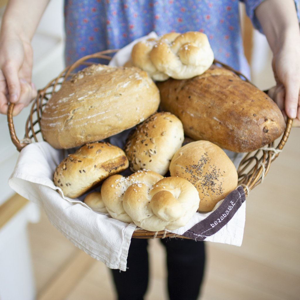 Cibulový kváskový chléb z Lhoty